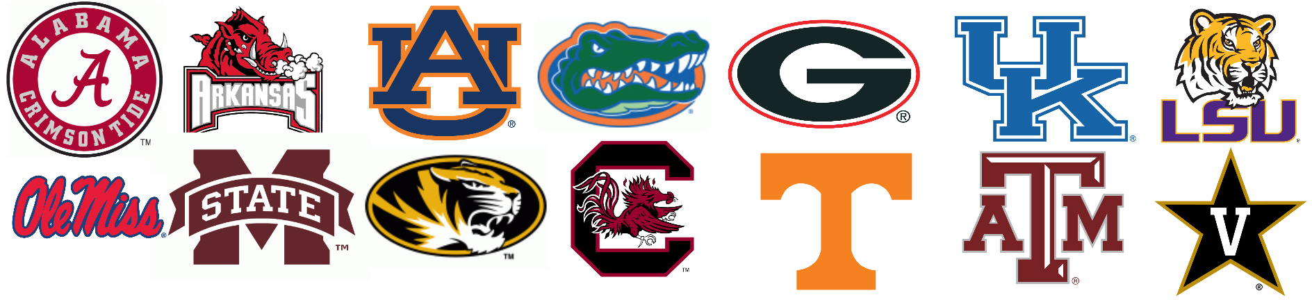 Best Lookin Logos Of The Sec Thinking Out Loud Gtylermills