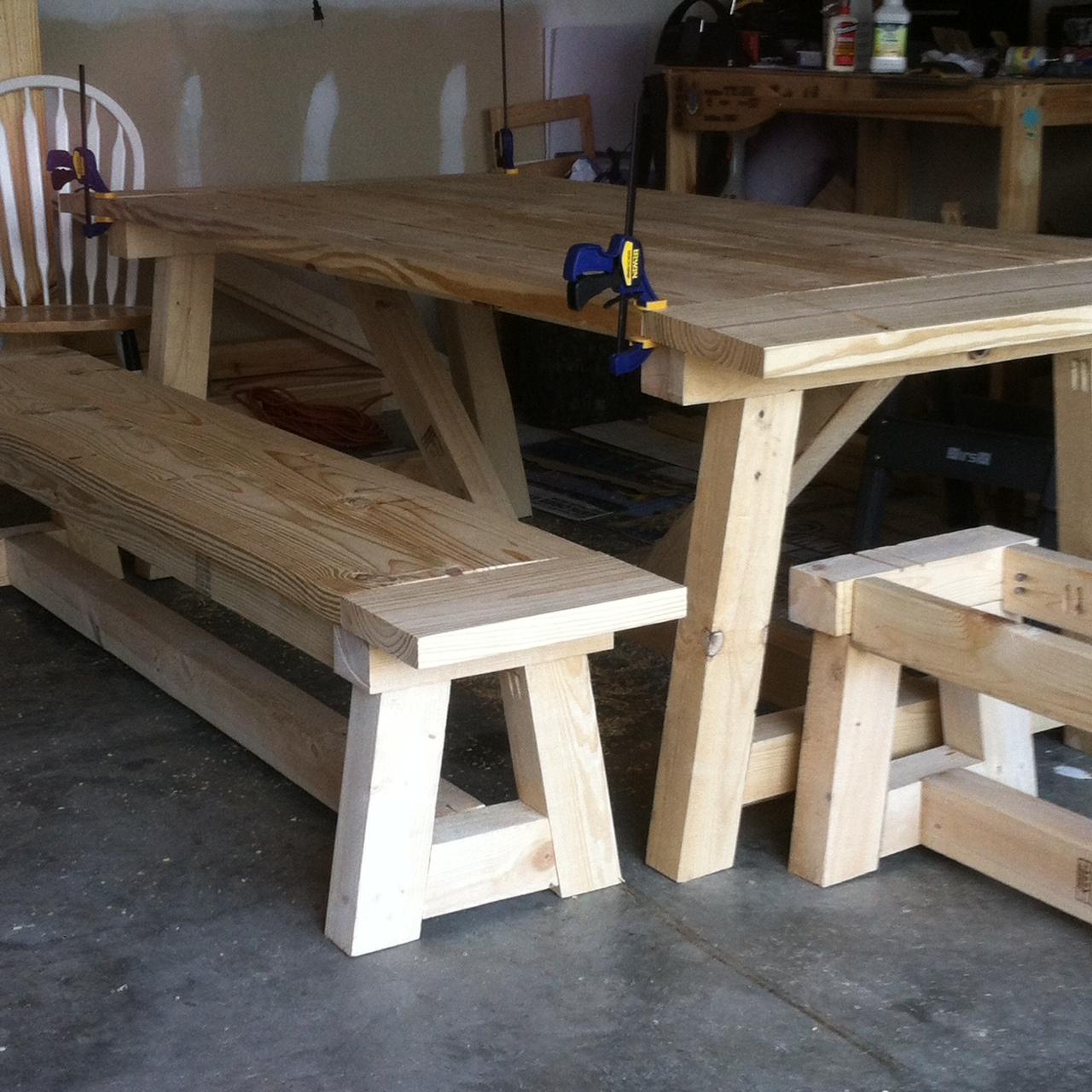 Peachy My Diy Farmhouse Table 44 Truss Beam Thinking Out Loud Machost Co Dining Chair Design Ideas Machostcouk