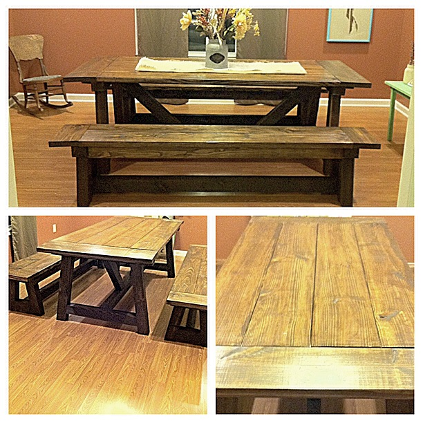 Outstanding My Diy Farmhouse Table 44 Truss Beam Thinking Out Loud Machost Co Dining Chair Design Ideas Machostcouk