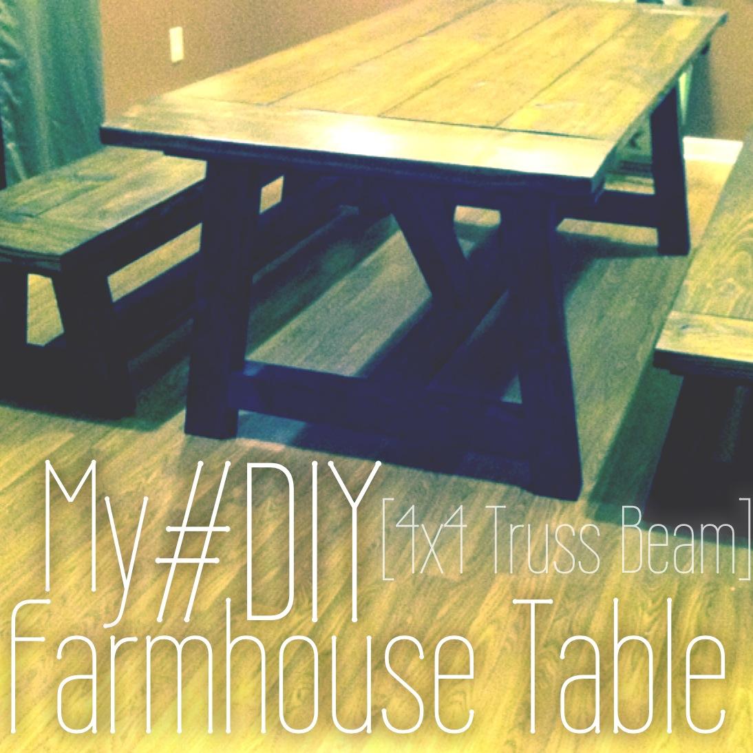 Magnificent My Diy Farmhouse Table 44 Truss Beam Thinking Out Loud Machost Co Dining Chair Design Ideas Machostcouk